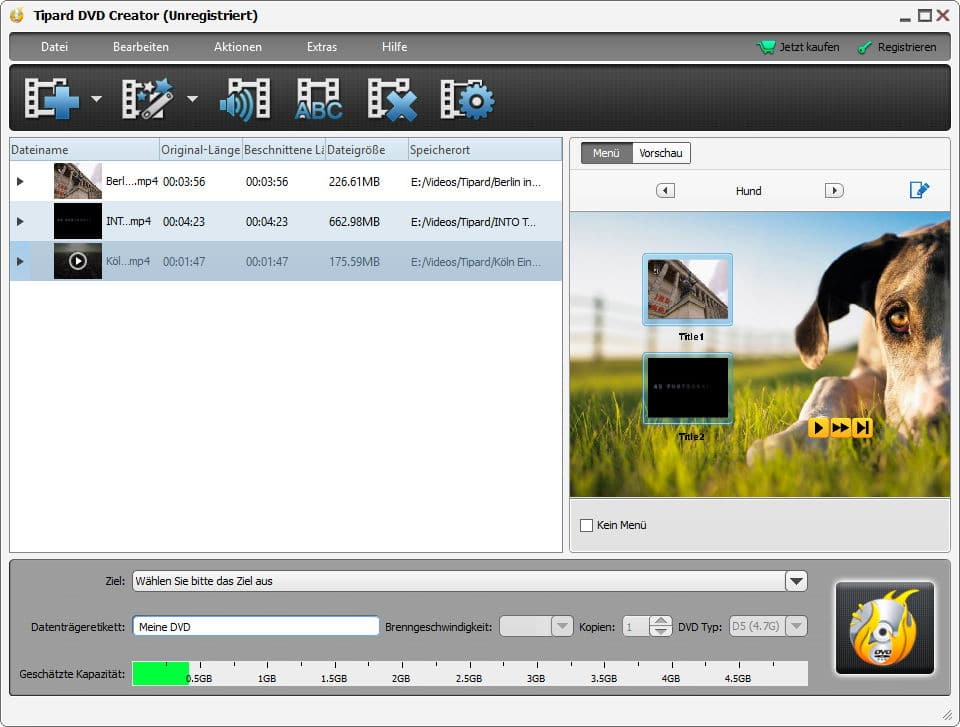 Screenshot Tipard DVD Creator 4