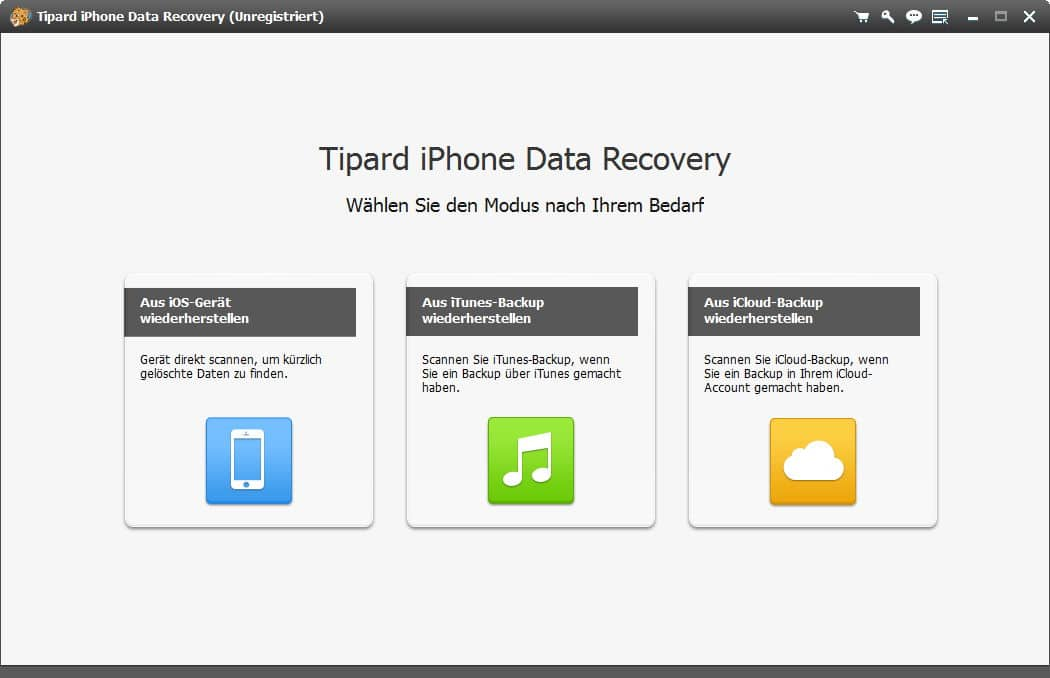 Tipard iPhone Data Recovery - Screenshot 1