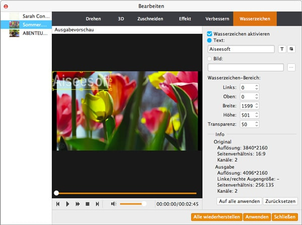 Aiseesoft Video Enhancer Mac - Screenshot 5