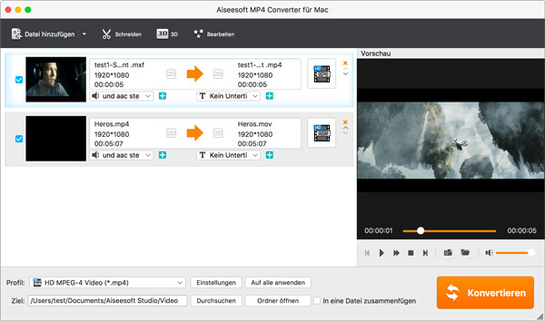 Aiseesoft MP4 Converter Mac - Screenshot 2