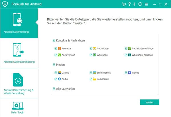 Aiseesoft Fonelab Android Datenrettung - Screenshot 3