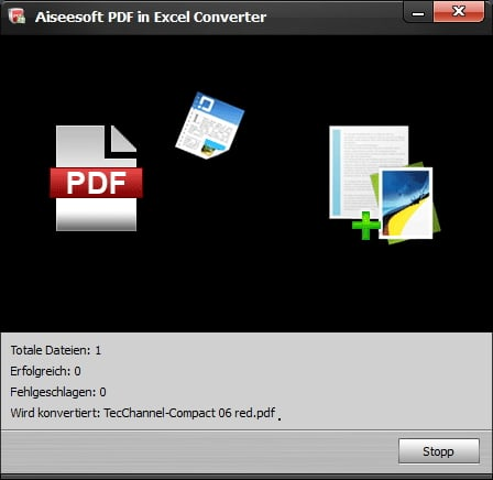Aiseesoft PDF to Excel Converter - Screenshot 4