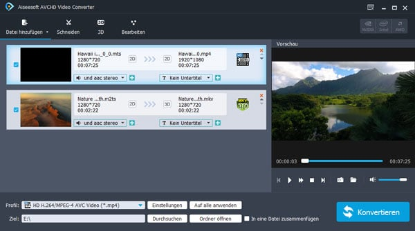Aiseesoft AVCHD Video Converter - Screenshot 1
