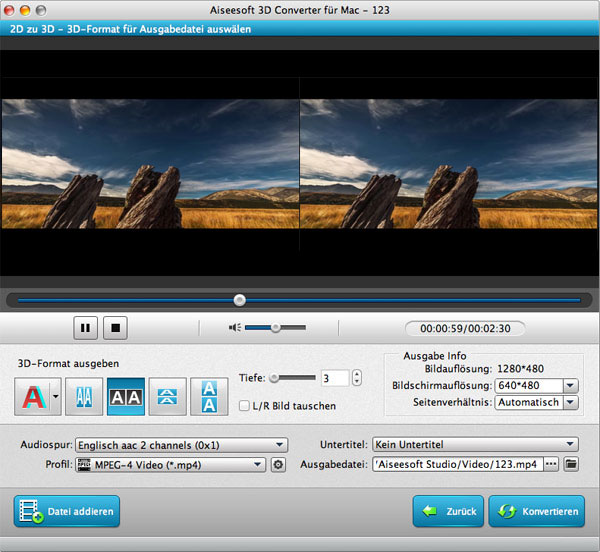 Aiseesoft 3D Converter Mac - Screenshot 2