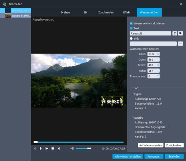 Aiseesoft AVCHD Video Converter - Screenshot 5