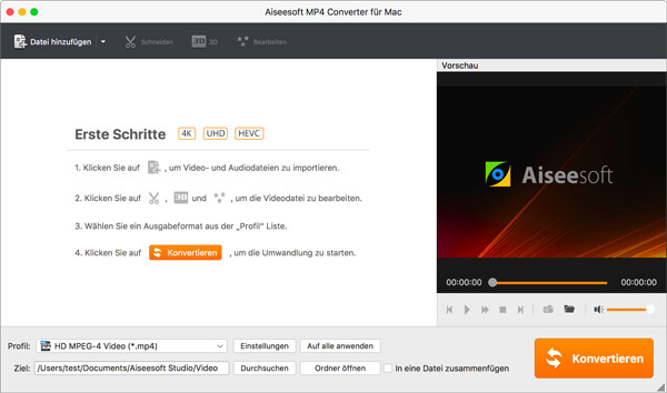 Aiseesoft MP4 Converter Mac - Screenshot 1