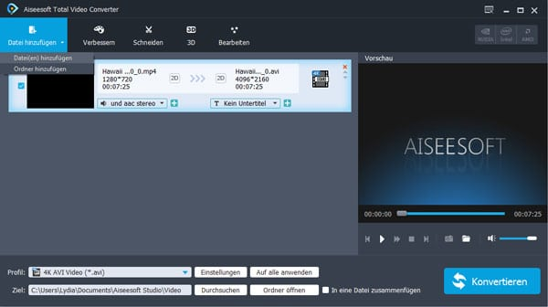 Aiseesoft Total Video Converter - Screenshot 1