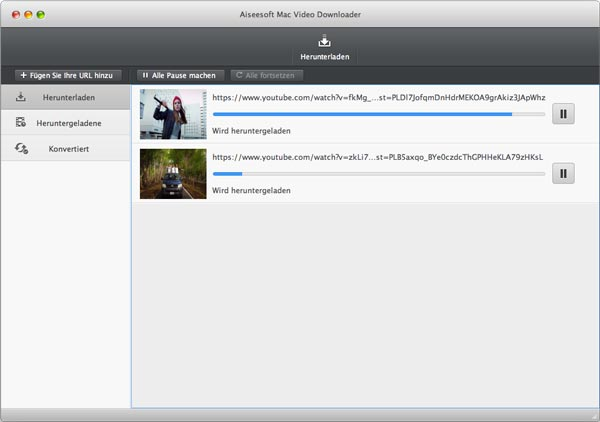 Aiseesoft Video Downloader Mac - Youtube Videos Downloaden