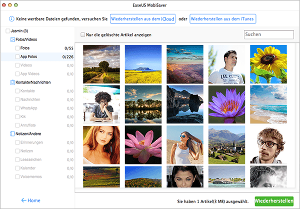 EaseUS MobiSaver 7.5 Mac - Screenshot 3