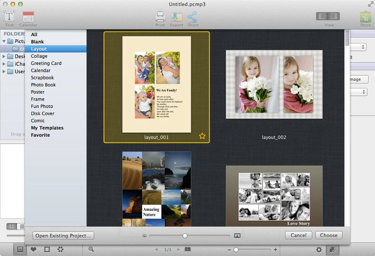 AmoyShare Photo Collage Maker Mac - Layout
