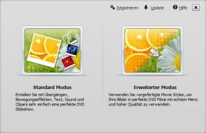 Wondershare DVD Slideshow Builder HD-Video Deluxe - Modusauswahl