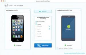 Wondershare MobileTrans Mac - Kopieren iOS zu Android