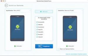 Wondershare MobileTrans Mac - Kopieren Android zu Android