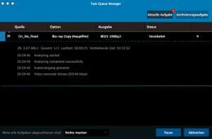 DVDFab Blu-ray to DVD Converter - Task Queue Manager