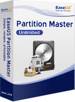 EaseUS Partition Master Unlimited - Packshot