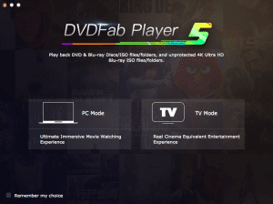 DVDFab Player 5 Standard - Mac - S4